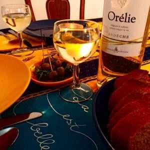 La Source Ardèche - notre table d'hôte - le dîner